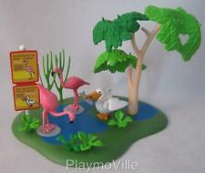 Playmobil Zoo/African safari: Pond scene with flamingos & pelican birds NEW