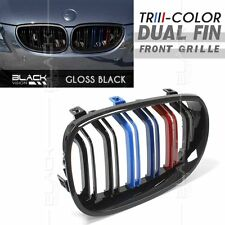 /// M Tri Color Gloss Black Kidney Front Grille for BMW 5 Series E60 E61 2003-09