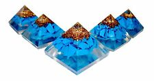 Turquoise Orgonite Pyramid Orgone Energy Multiplier Generator EMF Protector 25mm