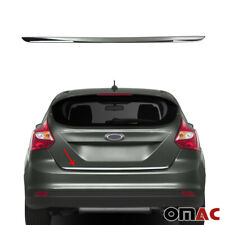 For Ford Focus 2012-2014 Hatchback Chrome Rear Trunk Lid Tailgate Trim Stainless