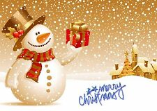 Christmas Holiday Snowman Edible Party Cake Image Topper Frosting Icing Sheet