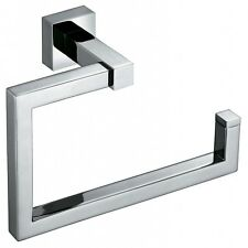 NEW Minimalist Square Towel Ring Chrome Brass Silver Towel Wall Hanger Holder