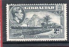 Gibraltar GV1,1938-52 2d grey P14 sg 124 HH.Mint