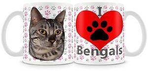 I LOVE BENGALS Mug , 11oz cat mug
