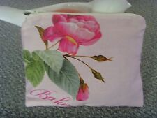 HANDMADE COSMETIC BAG  IN TED BAKER FABRIC COTTON EMILY ROSE PRINT  19cm x 14cm