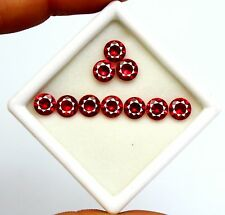 12.10Ct GGL Certified Natural Ruby Gorgeous Round Cut Red Colour Gems Lot