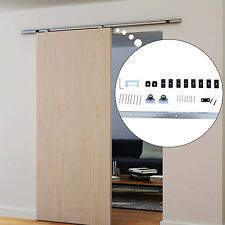 HOMCOM 6FT Sliding Barn Wood Door Hardware Kit Track Rail Modern Hang Style Set
