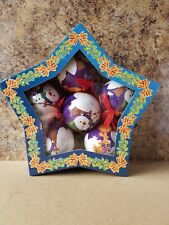 The Book People Snowman Plastic Christmas Baubles, Gift Box Of 6