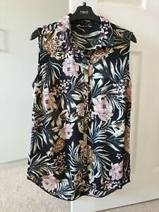 Women's Ladies Summer Floral Blouse Top From George At Asda.Size 12.Immaculate