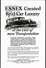 1929 Old Vintage Essex Super Six Sedan Car Automobile Co Art Print Ad