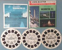 Viewmaster Reel x 3 Beautiful Washington DC USA A800 Booklet Pink Photos AS IS