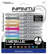 WRITE DUDES Infinity Metallic Permanent Markers, 8-Count, Assorted Colors 3432BA