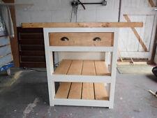 Small Rustic Kitchen Breakfast Bar. Solid Pine, Handmade