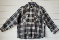 Sears Roebuck Men's Plaid Shirt Size L Wool Blend Long Sleeves