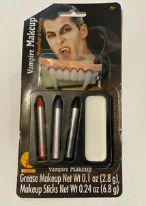 RUBIES Vampire Makeup Kit - White Makeup Grease and Makeup Sticks & Fang Teeth