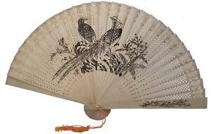 Sandalwood Style Hand Fan With a Tassel Folding Handheld Manual Fan Girls Women