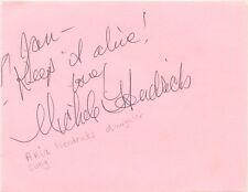 Michele Hendricks signed autograph album page 2002 American jazz singer Jon Aria