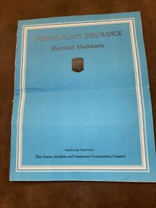 1925 THE OCEAN ACCIDENT AND GUARANTEE CORPORATION Power Plant Electrical Machine