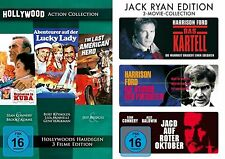 de 6 Hollywood Acción Clásicos BURT REYNOLDS SEAN CONNERY HARRISON FORD Caja DVD