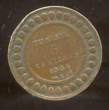 TUNISIE   5  centimes 1904  ( 1 )