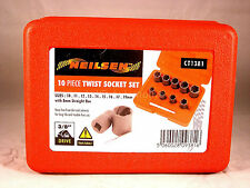 Remove Damaged Nuts and Bolts With These Twist Sockets, 10 Pc Kit,  NEW UK STOCK
