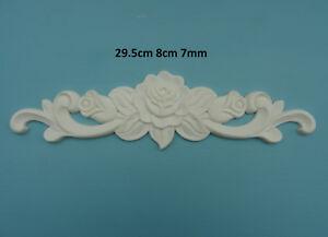 Decorative large ornate rose center applique onlay furniture moulding M3