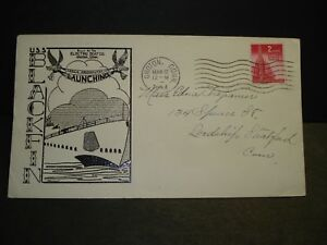 Submarine USS BLACKFIN SS-322 Naval Cover 1944 HERALD WWII Launch Cachet
