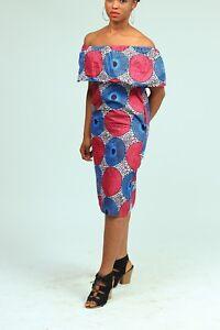 Women's  African print cape dress with pockets. Handmade S-XL.