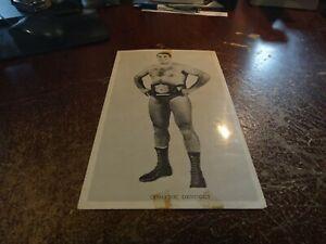 domenic denucci & belt wrestling black & white lutte press photo logo wwf