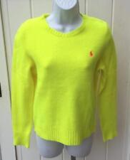 Polo Ralph Lauren womens optic yellow cashmere wool sweater xs $198 nwt