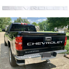 White CHEVROLET Letters Tailgate Emblem Nameplate Silverado 1500 2500 3500 2019+