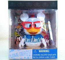 "DISNEY VINYLMATION 3"" NERDS ROCK DONALD DUCK 2011 COLLECTIBLE TOY FIGURE GIFT"