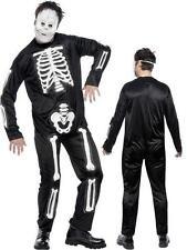 Adult Male Skeleton Jumpsuit Costume and Mask