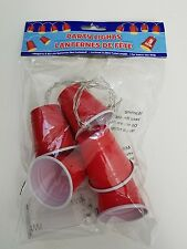 RED SOLO CUP Style Party Lights Battery Operated 5 lights per string