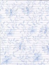 Classic Design Blue Fine Lined Stationery Writing Set, 25 sheets & 10 envelopes
