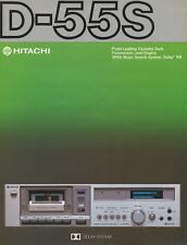 Hitachi D-55S Original Stereo Cassette Deck Brochure