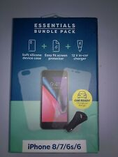 essentials bundle pack for iphone 8/7/6s/6 new with damage box