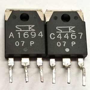 2SA1694 2SC4467 Sanken Matched pulled original transistors Group: P