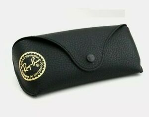 custodia occhiali da sole RAY BAN nera originale + regalo panno pulizia FERRARI