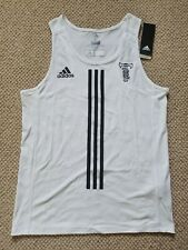 Adidas Climacool Tinman Elite Whiteout Running Singlet Vest Tank Mens Medium New