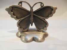 FASHIONCRAFT SMALL PEWTER BUTTERFLY MEMO / PHOTO / CARD / RECIPE HOLDER