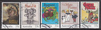 1985 Classic Australian Children's Book - Complete Set of Used Stamps