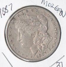 1887  Morgan Silver Dollar, FREE SHIPPING