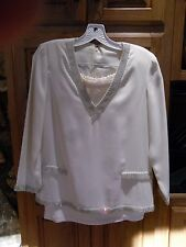 Vtg Ivory Silk Beaded Small Skirt & Top Handmade Formal See Measurements