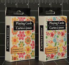 Flowers Floral Fashion Design Premium Playing Card Decks lot of 2 poker new MIP