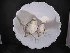 Limoges France Coronet Laviolette Snow Owls Charger Signed Rene Excellent!