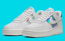 Nike Air Force 1 Low White Iridescent Women's Shoes CJ9704