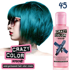 CRAZY COLOR Peacock Blue Blu Pavone 45 TINTA COLORE SEMIPERMANENTE CAPELLI 100ml
