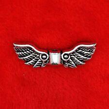 10 x Tibetan Silver Angel Wing Space Charm Pendant Finding Bead Jewellery Making