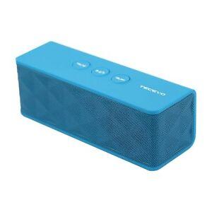 TECEVO T4 blau Wireless Bluetooth Lautsprecher Mini Aufladbar Tragbar 10W RMS NEU